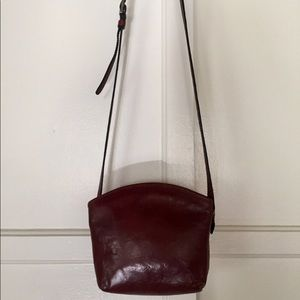 "Vintage ""Cellini"" Leather Crossbody Bag"